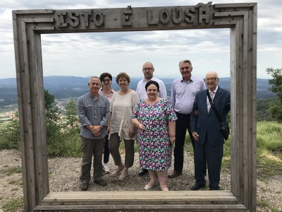 The Head of the House of Romanoff visited the Cerdeira Village Art and Craft Project in the Village of Cerdeira, Portugal