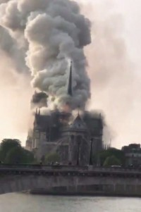 Grand Duchess Maria and her son and heir, Grand Duke George, send their condolences to the French people on the fire at Notre Dame Cathedral